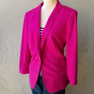 The Limited Hot Pink One Button Blazer
